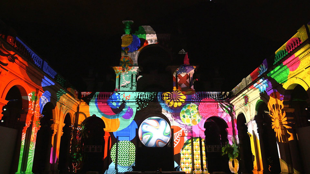adidas projection mapping