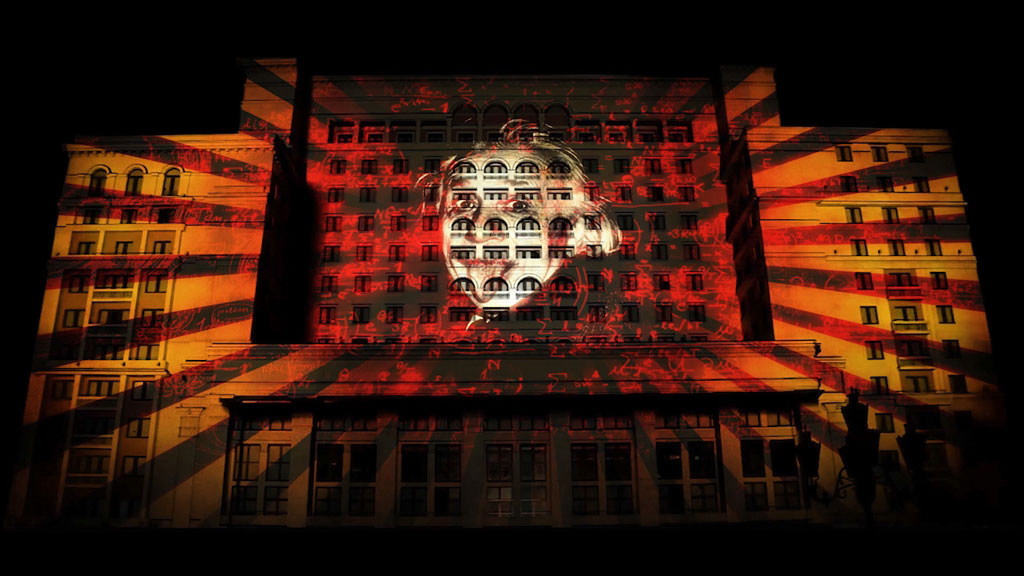 festival of light video mapping